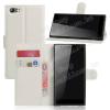 WALLET notesz tok / flip tok - FEHÉR - asztali tartó funkciós, oldalra nyíló, rejtett mágneses záródás, bankkártyatartó zseb, szilikon belsõ - Doogee Y300