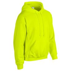 GILDAN bélelt kapucnis pulóver, biztonsági zöld