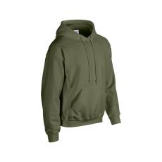 GILDAN bélelt kapucnis pulóver, military