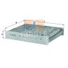 MAHLE ORIGINAL (KNECHT) MAHLE ORIGINAL LAK141 aktívszenes pollenszűrő (2 db/csomag)