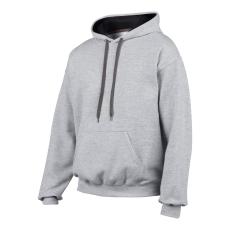 GILDAN pulóver bélelt kapucnival, szürke/fekete
