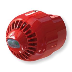 INIM Enea protokollú fényjelző az új EN54-23-nak megfelelően, piros