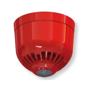 INIM IMT-IS0120RE Hagyományos hang- és fényjelző az új EN54-23-nak megfelelően, piros, 97 dB(A) @ 1 m