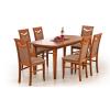 Halmar Fryderyk 160/240 Étkezőasztal, sötét dió színben