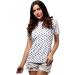 moe Mintás póló női MOE171 fehér