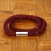 Yiwu Chanfar Jewelry Factory Duplasoros, mágneses, hálós kristály karkötő - bordó