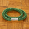 Yiwu Chanfar Jewelry Factory Duplasoros, mágneses, hálós kristály karkötő - zöld