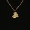 YiWu Fashion Statement Jewelry Arannyal bevont szíves nyaklánc