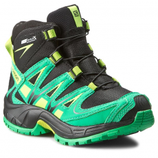 Salomon Bakancs SALOMON - Xa Pro 3D Mid Cswp K 378430 04 M0 Black/Real Green/Granny Green