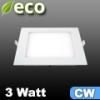 ECO LED panel (négyzet alakú) 3 Watt - hideg fehér