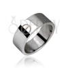 Acél gyűrű, ezüst színű, tabletta