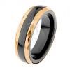 Kerámia gyűrű, csiszolt acél és arany színben