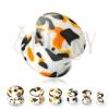 Fehér fültágító dugó, fekete és narancs foltokkal