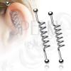 Scaffold piercing - spirál alakú szár, két golyó