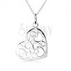 925 ezüst nyakék, szív medál, kivágott szívekkel és körökkel