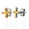 Színes fülbevaló acélból - TABONO szimbólum