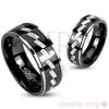Gyűrű sebészeti acélból pároknak - gravírozott minta