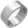 Gyűrű sebészeti acélból - geometriai mintázatok