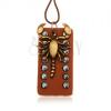 Sötétbarna nyakék szintetikus bőrből, szegecselt tábla, skorpió