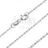 925 ezüst nyaklánc - katonai minta golyócskákkal, 1,2 mm