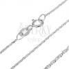 Sterling ezüst nyaklánc - keresztbe kapcsolt csavart kockák, 0,9 mm