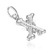 Díszes X betű medál 925 ezüstből