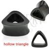 Plug - fül piercing, üreges háromszög