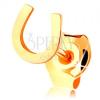 585 arany egy darabos fülbevaló, kis fényes szerencsét hozó patkó, stekker