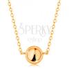 14K sárga arany nyaklánc - tükörfényű félgömb, finom lánc