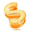 14K arany medál - nagy nyomtatott S betű, sima és fényes felület