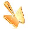 Csillogó medál 14K sárga aranyból - kis tükörfényes lepke