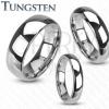 Tungsten gyűrű - sima és fényes karikagyűrű ezüst színben, 8 mm