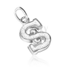 Sterling ezüst medál - bordázott S betű