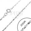 925 ezüst nyaklánc - hullámos elemek spirálban, 1,6 mm