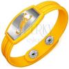 Karkötő gumiból - sárga, görög minta, skorpió