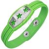 Zöld gumikarkötő - tábla csillagokkal, görög sorminta
