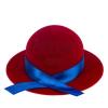 Bársony ajandékdoboz gyűrűnek, vagy fülbevalónak - piros kalap