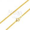 Arany nyaklánc kígyó mintával és kerek résszel, 500 mmn