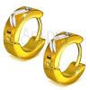 Arany színű kerek fülbevaló, átlós bevágások