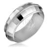 Gyűrű ezüstből - DISCO, fényes négyzetek