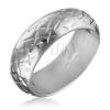 Fényes ezüstgyűrű - gravírozott csillagok