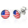 Nemesacél fülbevaló - amerikai zászló