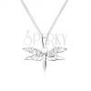 Nyakék 925 ezüstből, lánc és szitakötő alakú medál, cirkóniás szárnyak