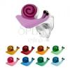 Bedugós 925 ezüst fülbevaló, színes csiga fényes csigaházzal