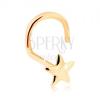 585 arany orrpiercing - fényes ötágú csillag
