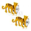 Fülbevaló 925 ezüstből, sárga tigris fekete csíkokkal, beszúrós