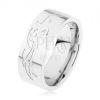 Acél gyűrű, ezüst szín, gravírozott tribal minta