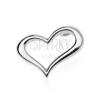 925 ezüst medál - hullámos szívkeret, oldalt akasztós