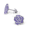 Beszúrós ezüst fülbevaló 925 - rózsa