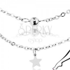 Bokalánc sebészeti acélból ezüst színben, fényes csillagok és golyók